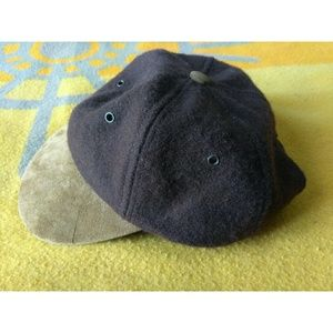 J Crew Leather Suede Cap